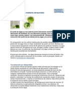 Biodiesel de Algas Mediante Ultrasonidos
