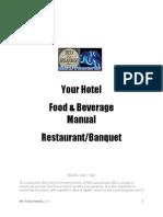 FB Manual for Restaurant & Banquet