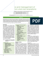 Diagnosis and Management of Common Non Viral Oral Ulceration