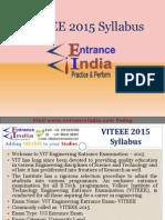 VITEEE Syllabus by Entranceindia