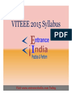 VITEEE Syllabus by Entranceindia