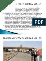Planeamiento en Obras Viales