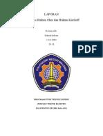 Laporan Hukum Ohm Dan Hukum Kirchoff