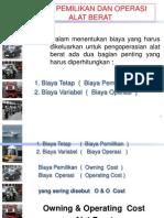 13. Biaya Pemilikan Dan Operasi Alat Berat 2007