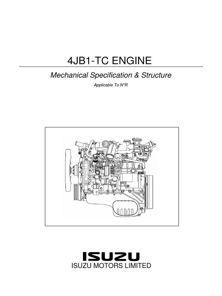 isuzu nkr 4jb1 piston cylinder engine rh es scribd com 1988 Isuzu Trooper 2017 Isuzu Trooper