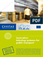 Innovative ticketing systems for public transport