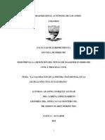 La Valoracion de La Testimonial en El Proceso Civil Márquez - López Mdpciv0085