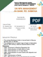 NPA management, Canara Bank