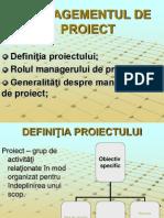Managementul de Proiect