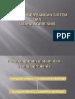 X. Arah & Pengembangan Agribisnis