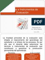 Tcnicas e Instrumentos de Evaluacion