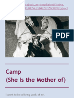 Camp (She Is the Mother of)