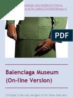 Balenciaga Museum (on-line version)