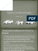 Car Rent in Pune