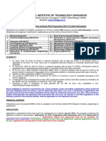 Nit Durgapur phd admission 2014-15