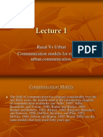 40757170 Communication Models Rural vs Urban