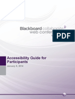 Blackboard Collaborate Web Conferencing Accessibility Guide for Participants