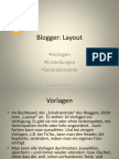 Präsentation Blogger Layout