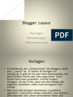 Präsentation Blogger Layout