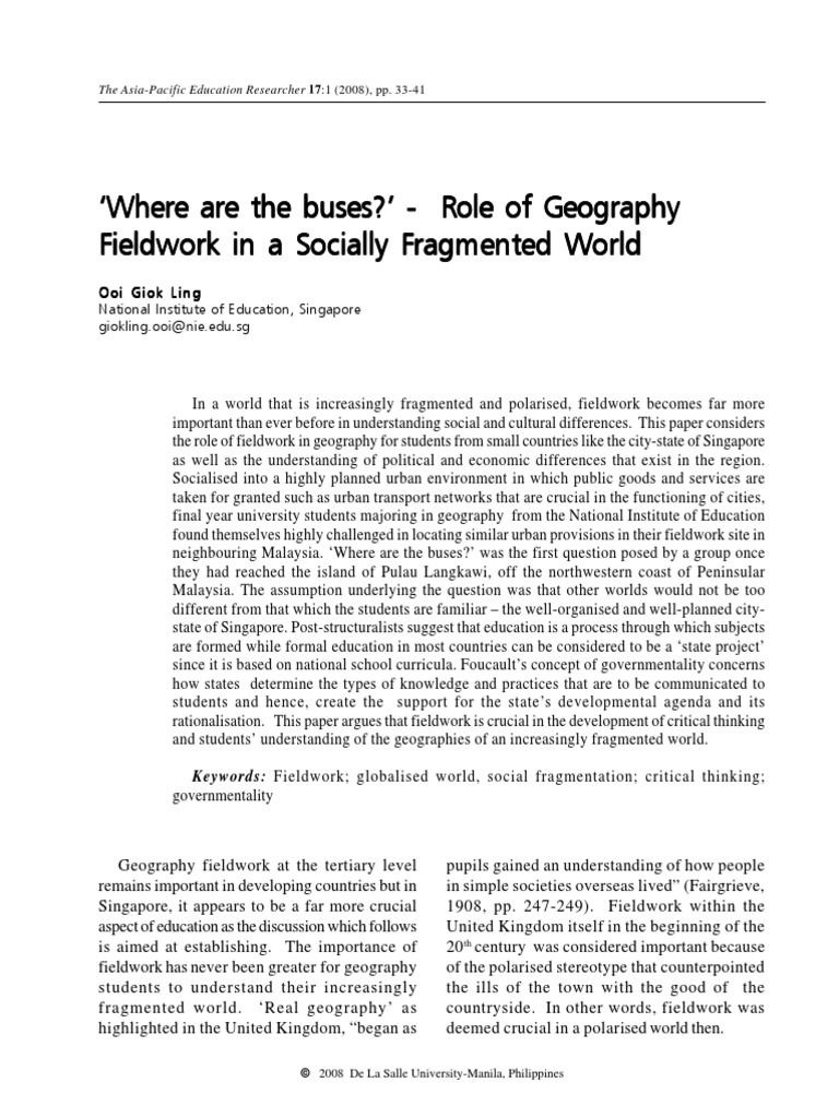geography is important because