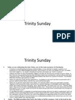trinity sunday  a