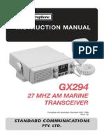 GME Electrophone CX294 GX294 CB Radio Im