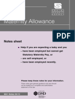 Maternity Allowance Notes