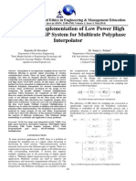 Design and Implementation of Low Power High Speed VLSI DSP System for Multirate Polyphase Interpolator