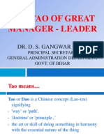 The Tao of Great Manger Leader
