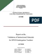 Instructional materials for ASD