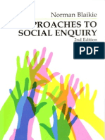 Approaches to Social Enquiry (Blaikie) Chpt 1