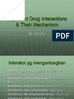 Important Drug Interactions & Their Mechanism