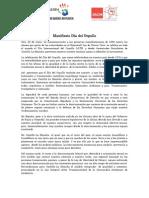 Manifiesto Día Del Orgullo 2014 JSCM
