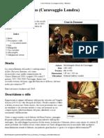 Cena in Emmaus (Caravaggio Londra)