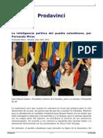 Mires, Fernando; La Inteligencia Política Del Pueblo Colombiano
