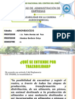 Trazabilidad en La Cadena Agrocomercial