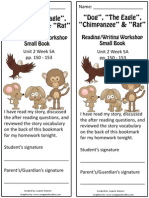 2 5a bookmark  the dog eagle chimpanze rat