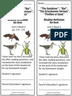 2 5 bookmark  the sandpiper bat grasshopper fireflies