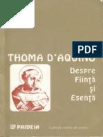 Toma de Aquino-Despre Fiinta Si Esenta-Paideia (1995)
