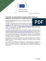 Corte Europea Esorta Italia 26 Settembre 2013 Per Mancati Controlli Prescrizioni a.i.a. 3721 (1)