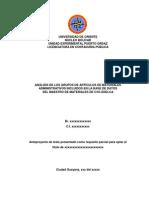 Modelo Anteproyecto Trabajo de Grado UDO