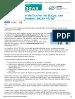 Autorizzazioni Integrata Ambientale Decreto 53 Direttiva Europea 2010 75 Eu Direttiva 2008 1 Ce 060-14
