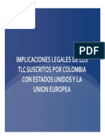 9 - Implicaciones Legales de Los Tlc Suscritos Por Colombia Con Estados Unidos y La Union Europea