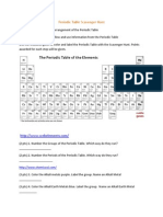 periodic table scavenger hunt