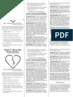 Rosary Pocket Instructions