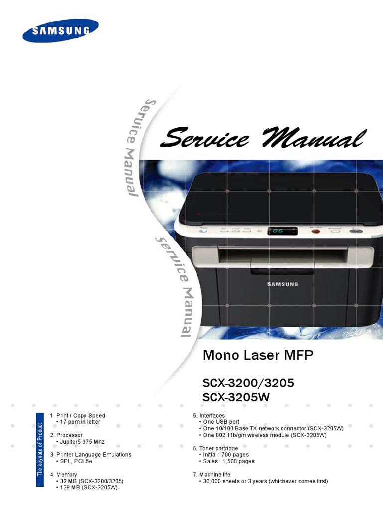 service manual scx 3200 series electrostatic discharge ac power rh es scribd com Samsung Printer SCX-4623F Driver Samsung Scx 4623F Scan Driver