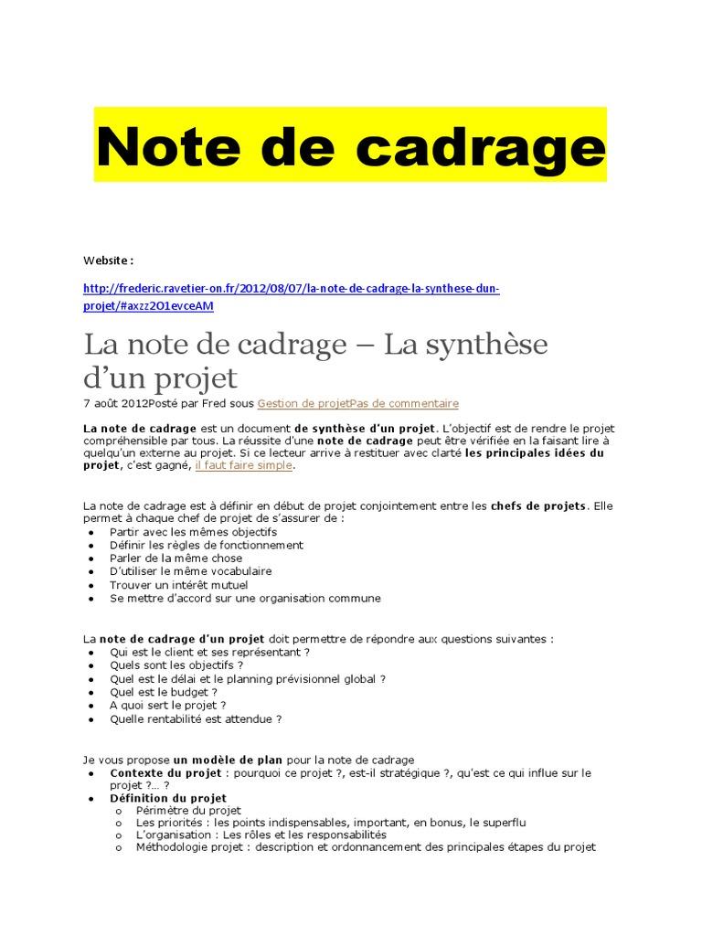 note de cadrage  1