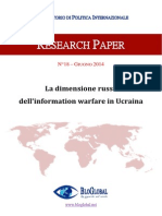 La Dimensione Russa Dellinformation Warfare in Ucraina Research Paper Lupo Giugno 2014