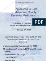 3rd-MeTA-Philippines-Forum-Dela-Paz-Edelina-Ensuring Access to Safe Affordable and Quality Essential Medicines