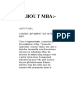 :-About Mba:About Mba Career Opportunities After Mba There is Unprecedented